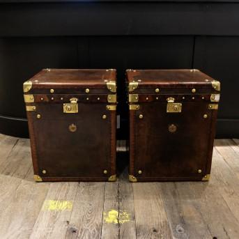 Set Lederen Koffers