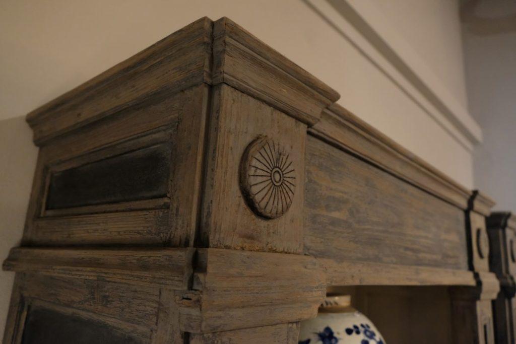 Gray Open Cabinet