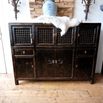 Dark Brown Chinese Dresser