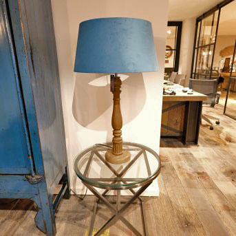 Lamp with Wooden Stand