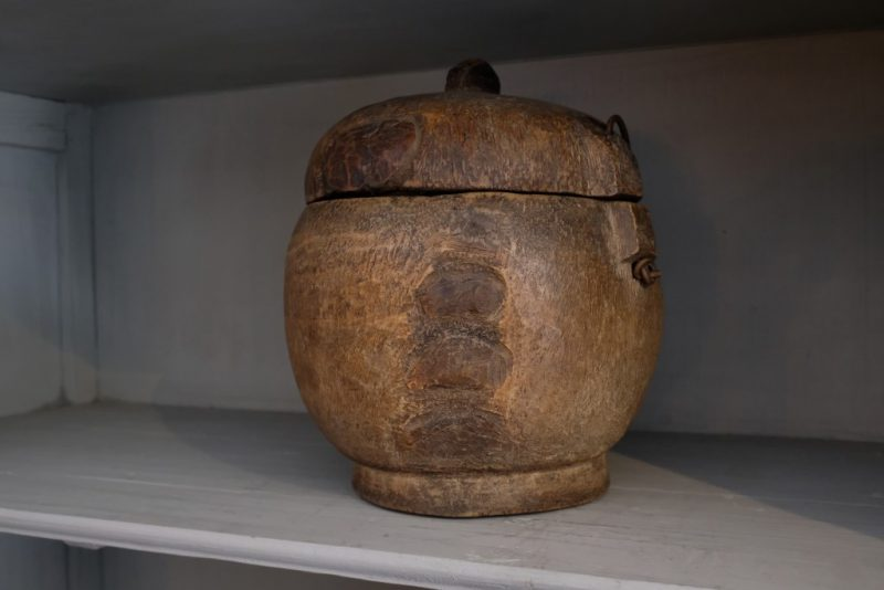 Houten Pot met Deksel