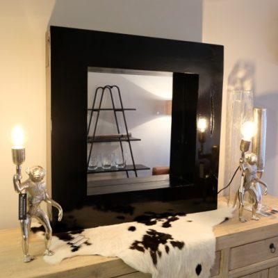 Spiegel in Zwart Frame